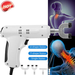 110 220v Professional Chiropractic Tool Electric Spine Adjusting Corrector 4head