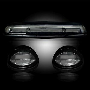 Recon 264155bkhp 2002 2017 Chevy Gmc Smoked Amber Cab Light Led