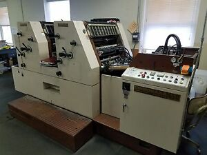 Shinohara 2 Color Or Perfecting Printing Press
