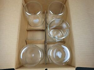 Pyrex No 1000 600 Griffin Low Form Graduated Beakers 600 Milliliters Ml Lot Of 5