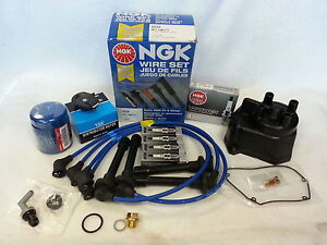 Tune up Kit Cap Rotor Ngk Wires spark Plug Pcv For Honda Accord Lx Ex 1998 2002