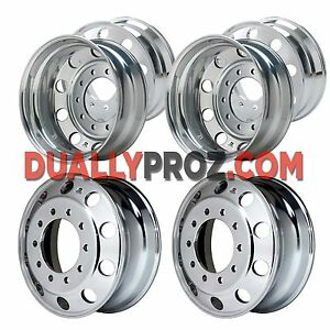 22 5 Alcoa Level One 22 Milled Dually Wheel Package