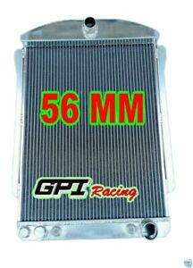 56mm For Chevy Car Street Rod Auto 1940 1941 40 41 Aluminum Radiator