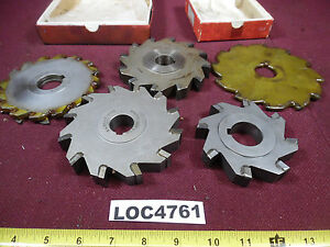 Lot Of 5 Assortment Of Slitting Saws Some Resharpend Loc4761