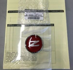 Jdm Nissan 90 00 300zx Fairlady Z Z32 Front Z Emblem Badge Red Genuine In Stock