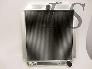 Universal Aluminum Radiator Griffin Hot Rat Rod Ford Chevy Dodge 26 23 3 Rows