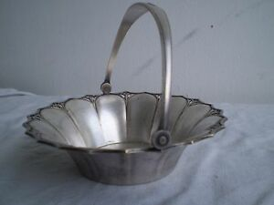 1910 Rare Vintage Art Deco Wmf Silver Plated Basket Germany