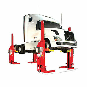 Rotary Mach Mobile Column Lifts Mch413 52 000 Lb Capacity Set Of 4
