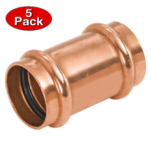 2 Inch Press Copper Slip Coupling No Stop 5 Pack