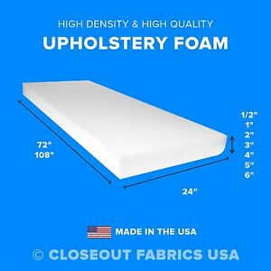 High Density Upholstery Foam Seat Cushion Replacement Sheets $65.95