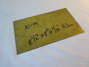 26 Gauge X 5 X 8 5 Alloy 260 Brass Sheet Flat Sheet Bar Stock 10 3oz A7 49