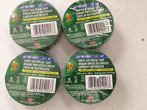 Lot Of 4 Rolls Duck Brand Vinyl Electrical Tape 3 4 X 66 Ft Electrical Tape