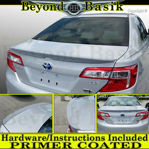 2012 2013 2014 Toyota Camry Oe Factory Style Spoiler Lip Trunk Wing Primer