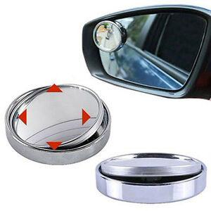 360 Adjustable Wide Angle Convex Car Blind Spot Round Stick Side Rearview Mirror