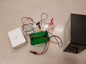 Buchler 500 Volt Power Supply With Bio Rad Electrophoresis Boxes