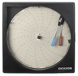 New Dickson 8 Temperature Humidity Chart Recorder 24 Hr 7 Day Th8p0