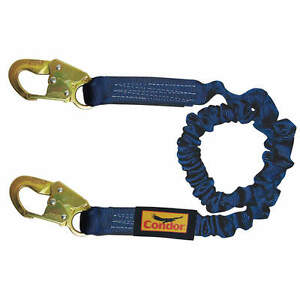 Condor 19f385 4 1 2 To 6 Ft elastic Lanyard Safety Harness Roofer warehouse Fs h