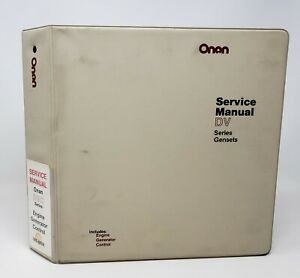 Onan Gensets Engine Generator Control Service Manuals For Dvc Series 982 0500