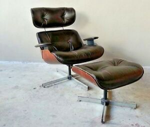 Vintage Original 60 S Plycraft Eames Chair W Ottoman New Leather