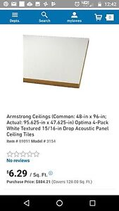 Armstrong 4x8 Ceiling wall Insulated Panels