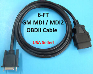 Gm Mdi Mdi2 Multiple Diagnostic Interface Obdii Obd2 Dlc Cable 3000211 El47955 4
