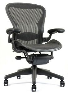 Aeron Chair By Herman Miller Size B Fully Adjustable Model