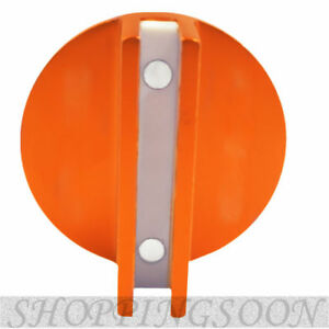 Large Slotted Universal Magnetic Jack Pad Pinch Weld Frame Rail Adapter Orange