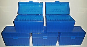 BERRY'S PLASTIC AMMO (5) 50 Round Storage Boxes For 8mm Mauser FREE SHIPPING