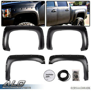 Rivet Fender Flares Pocket Style For 07 14 Chevy Silverado 1500 2500hd 3500hd