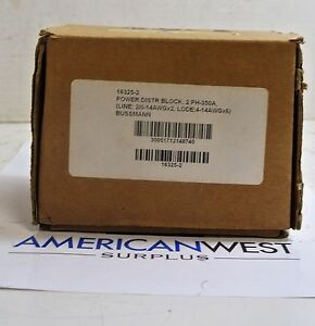 16325 2 Bussmann Power Distribution Block 2 Ph 350a 600v New In Box