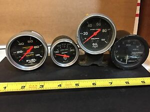 Auto Meter Sport Comp 2 1 16 Oil Pres Oil Temp Fuel Pres Ext Temp 4 Gauges
