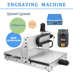 3 Axis Desktop Cnc Router Engraver Milling Engraving Drilling Machine Kit 6040