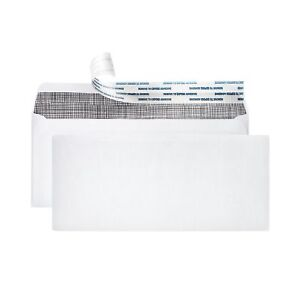 10 Security Envelopes 500 Letter Size Envelopes With Peel Seal Self Adh