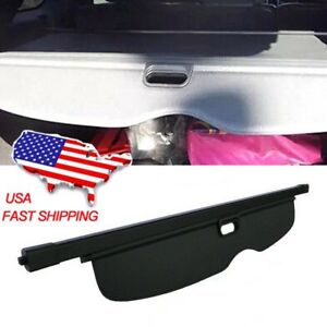 Black Retractable Rear Trunk Cargo Cover Shield For Jeep Grand Cherokee 11 16
