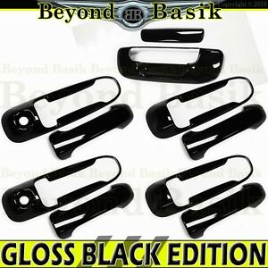 For 2002 2008 Dodge Ram 1500 2500 Gloss Black Door Handle Covers 2 Kh tailgate