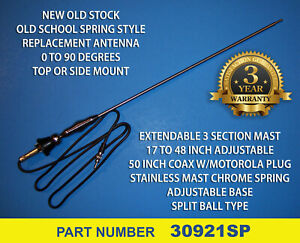 Old School Spring Style Replacement Radio Antenna Am fm Stereo Car Truck Van New