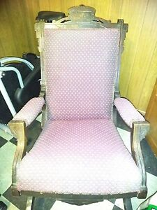 Elegant Antique Rocking Chair Stately And Comfortable Beautiful Carved Wood
