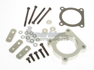 Dfj Performance Throttle Body Spacer Silver 2004 2015 Toyota Tacoma 4 0l V6 All