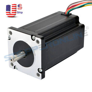Nema 24 Stepper Motor 4nm 566 Oz in 3a 8 wire 8mm Dual Shaft Router