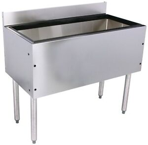 Glastender Choice Stainless Steel Commercial Back Bar Ice Bin 12