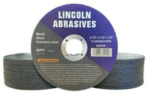 50 Pack 4 1 2 X 1 16 Cut off Wheel 4 5 Cutting Discs Stainless Steel Metal