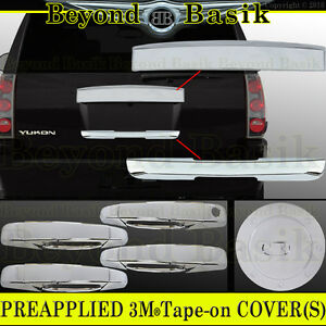 2007 2014 Gmc Yukon Xl Chrome Tailgate lower Liftgate gas door Handle Covers