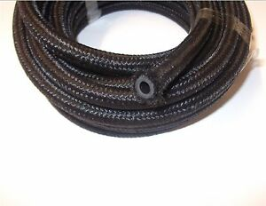Cotton Over Braided Black Rubber Fuel Pipe Hose Diesel Petrol 3 2 5 6 8 10mm