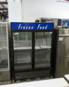 True Gdm 49f Reach in Vertical Freezer Merchandiser 2 Glass Doors 110v