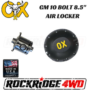 Ox Air Locker Gm 10 Bolt 8 5 2 73 And Up 28 Spline W Hd Differential Cover