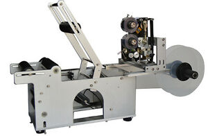 Round Bottle Labeling Machine With Date Code Printer Labeller Automatic 110v New