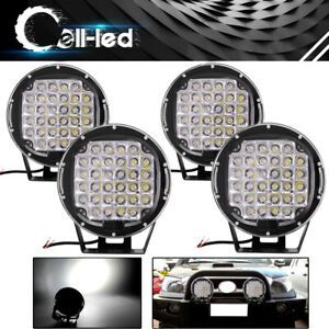 4x Round 9inch 185w Led Work Lights Jeep 4x4 Truck Bumper Backup Driving Offroad