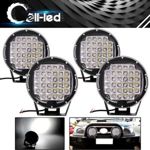 4x 9inch 450w Round Led Work Light Spot Driving Lamp Headlight Offroad Atv Truck