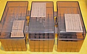 BERRY'S PLASTIC AMMO (3) 50 Round Storage Boxes For .25-06 Rifle FREE SHIPP