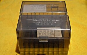 BERRY'S PLASTIC AMMO (2) 50 Round Storage Boxes For 8mm Mauser FREE SHIPPING